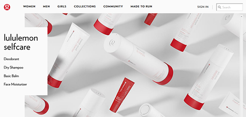 Lululemon正式进军美容和个护产业 产品针对运动人群需求