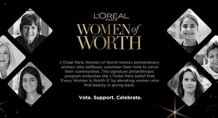巴黎欧莱雅公布入选2019年度Women of Worth女性公益领袖名单