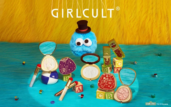 国货彩妆品牌 Girlcult 联手芝麻街发布了 2021 春夏彩妆系列